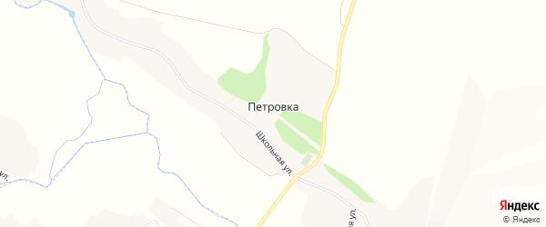 Карта села Петровка (Петровское с/п) в Белгородской области с улицами и номерами домов