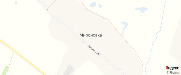 Раздольная улица на карте хутора Мироновки с номерами домов