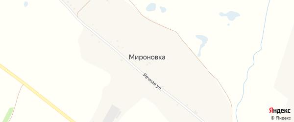 Речной переулок на карте хутора Мироновки с номерами домов