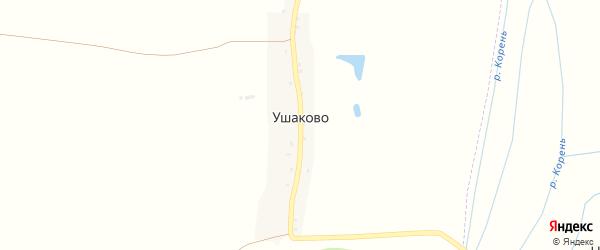 Луговая улица на карте села Ушаково с номерами домов