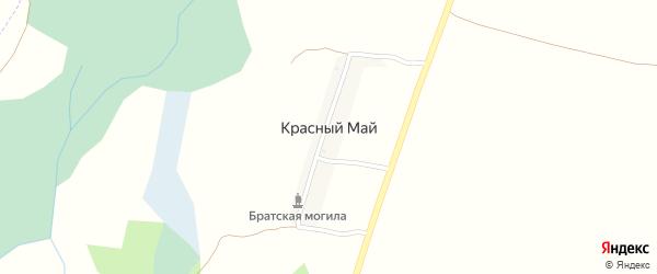 Улица Мира на карте хутора Красного Мая с номерами домов