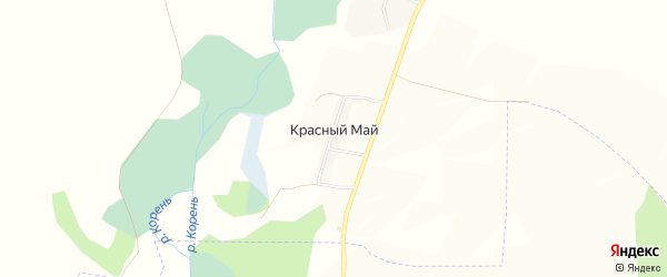 Карта хутора Красного Мая в Белгородской области с улицами и номерами домов