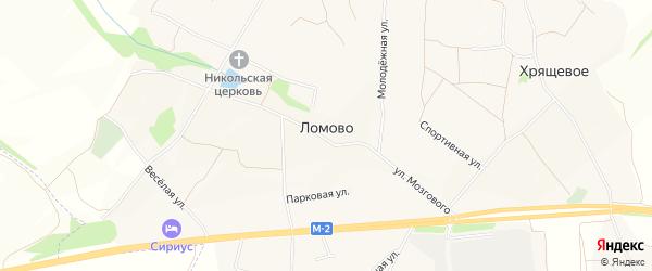 Карта села Ломово в Белгородской области с улицами и номерами домов