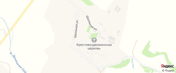 Школьная улица на карте села Петровка (Петровское с/п) с номерами домов