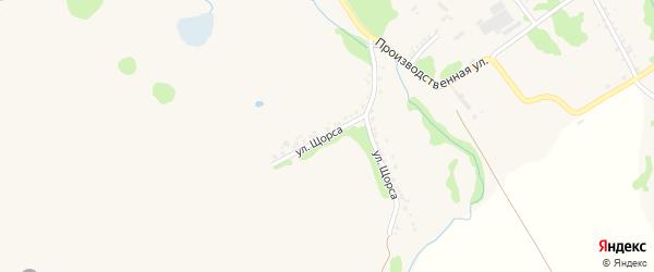 Улица Щорса на карте Шебекино с номерами домов