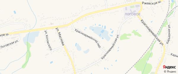 Красноармейский переулок на карте Шебекино с номерами домов