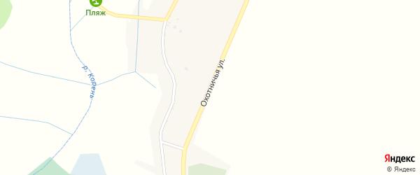 Охотничья улица на карте села Новотроевки с номерами домов