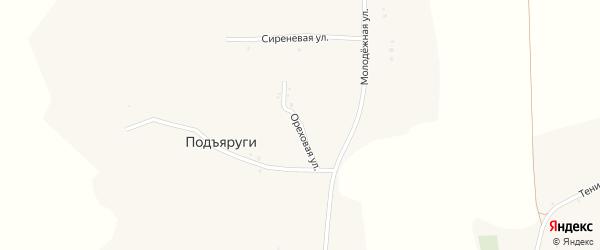 Ореховая улица на карте села Подъяруги с номерами домов