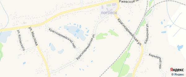 Красноармейская улица на карте Шебекино с номерами домов