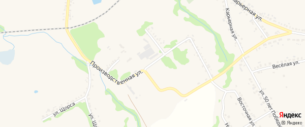 Производственная улица на карте Шебекино с номерами домов