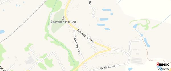 Карьерная улица на карте Шебекино с номерами домов