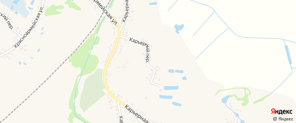 Карьерный переулок на карте Шебекино с номерами домов