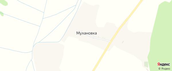 Лесная улица на карте хутора Мухановки с номерами домов