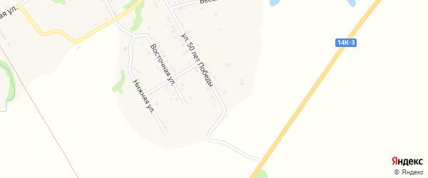 Улица 50 лет Победы на карте Шебекино с номерами домов