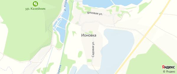 Карта хутора Ионовки в Белгородской области с улицами и номерами домов