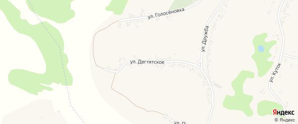 Улица Дегтятское на карте села Заячьего с номерами домов