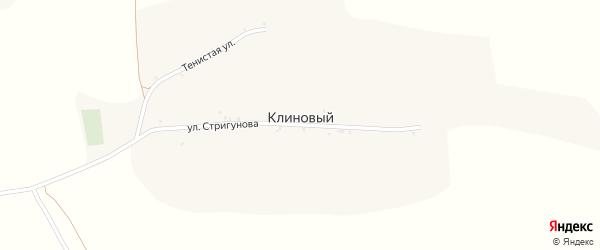 Улица Стригунова на карте Клинового хутора с номерами домов