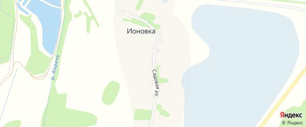 Садовая улица на карте хутора Ионовки с номерами домов
