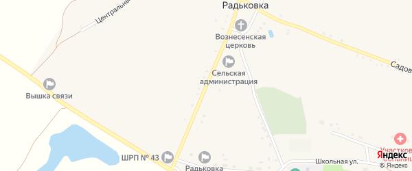 Вознесенская улица на карте села Радьковки с номерами домов