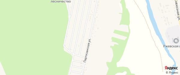 Партизанская улица на карте села Ржевки с номерами домов