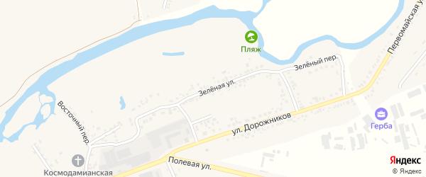 Зеленая улица на карте Шебекино с номерами домов