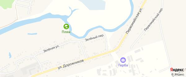 Зеленый переулок на карте Шебекино с номерами домов
