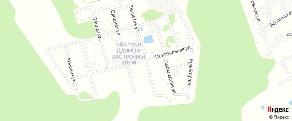 Тенистая улица на карте садового некоммерческого товарищества Пищевика-1 с номерами домов