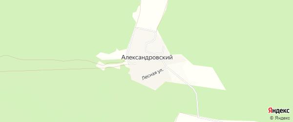 Карта Александровского хутора в Белгородской области с улицами и номерами домов