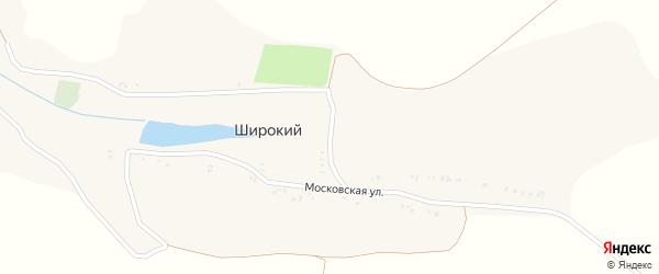 Московская улица на карте хутора Широкий (Кривошеевское с/п) с номерами домов