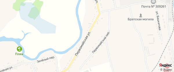 Первомайская улица на карте села Ржевки с номерами домов