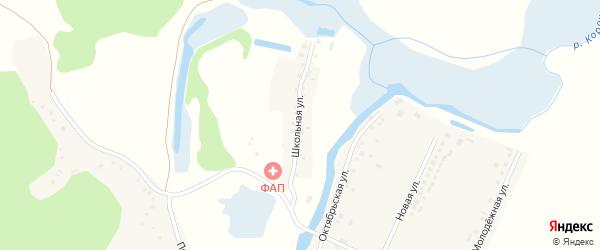 Школьная улица на карте Доброго села с номерами домов