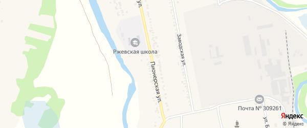 Пионерская улица на карте села Ржевки с номерами домов