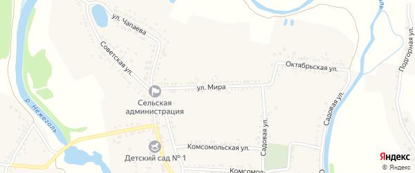 Улица Мира на карте села Ржевки с номерами домов