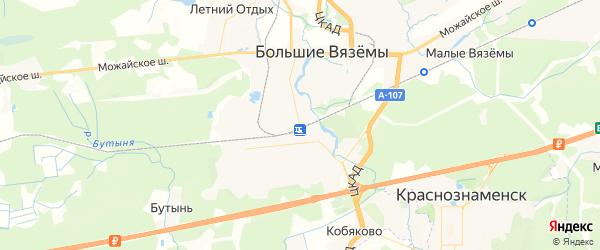 Карта Голицыно с районами, улицами и номерами домов