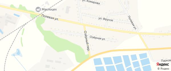 Озерная улица на карте села Ржевки с номерами домов