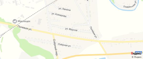 Улица Фрунзе на карте села Ржевки с номерами домов