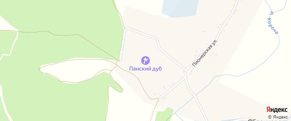 Улица Победы на карте села Яблочково с номерами домов