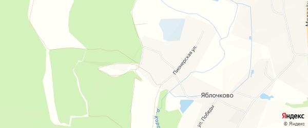Карта села Яблочково в Белгородской области с улицами и номерами домов