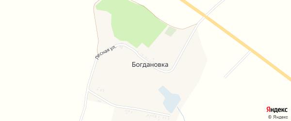 Лесная улица на карте хутора Богдановки с номерами домов