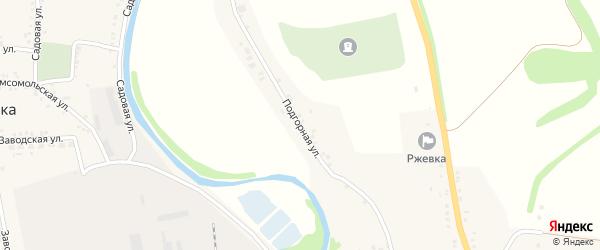 Подгорная улица на карте села Ржевки с номерами домов