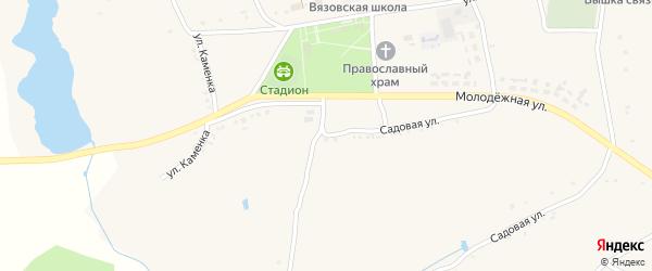 Садовая улица на карте Вязового села с номерами домов