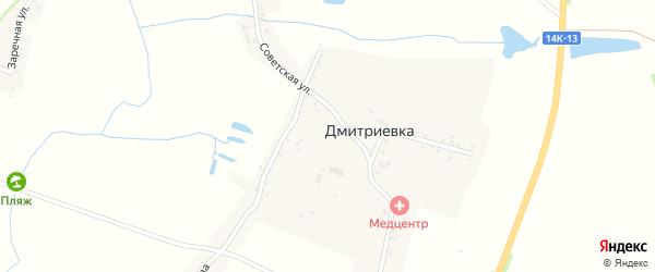 Улица Озерова на карте села Дмитриевки с номерами домов