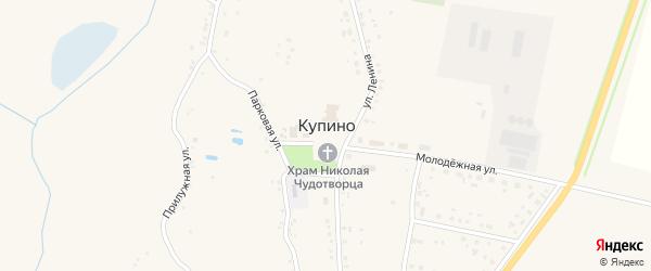 Комсомольская улица на карте села Купино с номерами домов