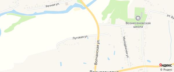 Луговая улица на карте села Вознесеновки с номерами домов