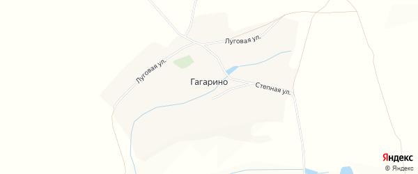 Карта села Гагарино в Белгородской области с улицами и номерами домов