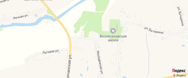 Административная улица на карте села Вознесеновки с номерами домов