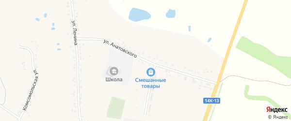 Улица Анатовского на карте села Купино с номерами домов