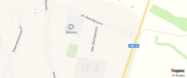 Переулок Анатовского на карте села Купино с номерами домов