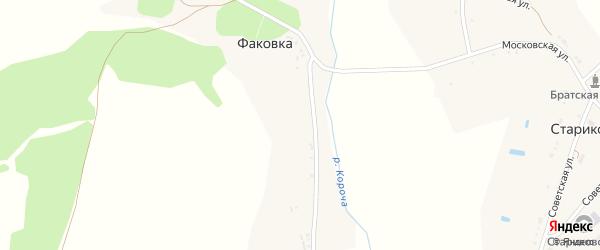 Заречная улица на карте хутора Факовки с номерами домов