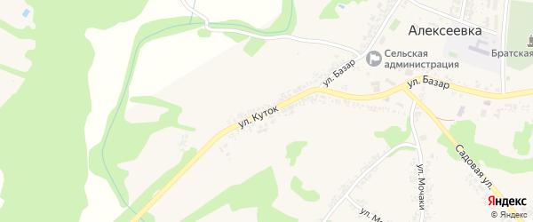 Улица Куток на карте села Алексеевки с номерами домов